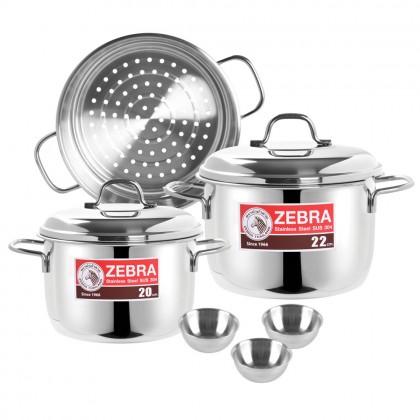 Zebra Steaming Set With 3 Pcs HI-CR Bowl