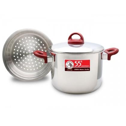 [ZEBRA 55th Anniversary] Zebra 22cm Sauce Pot With Steamer