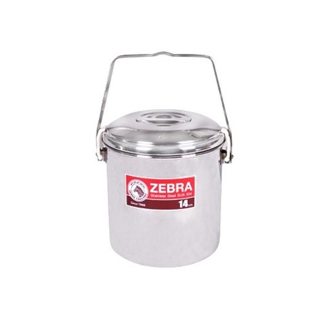 Zebra Loop Handle Pot W/Auto Lock (14cm/16cm)